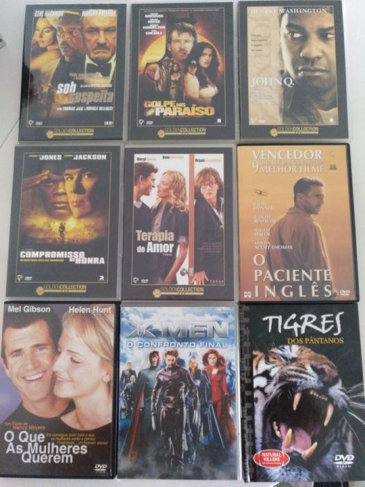 9 DVDs - O Paciente Inglês, Sob Suspeita, John Q., X-Men, ect