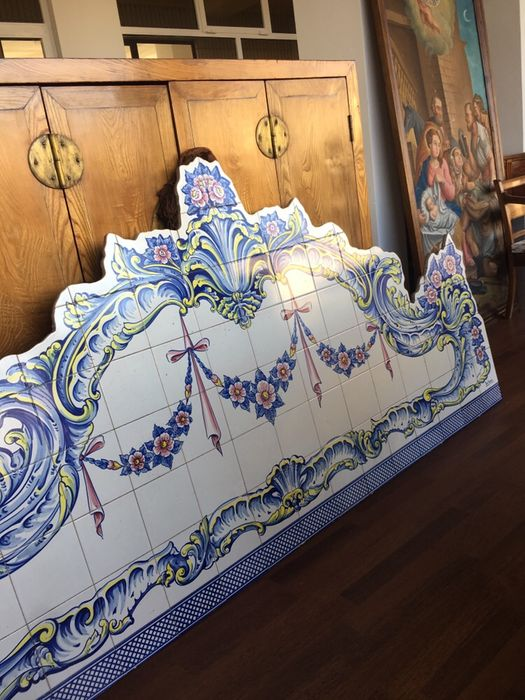 Magnífico painel de Azuleijos , pintado á mão, assinado Mindelo - imagem 1