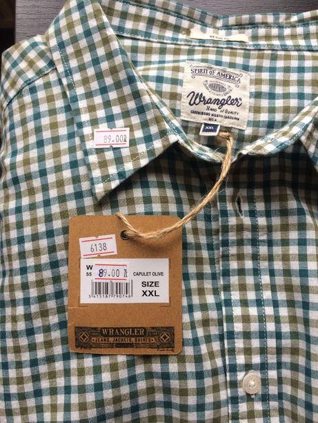 Koszula męska Wrangler W58711KH4 krótki rękaw Rozmiar XXL  rvGhG
