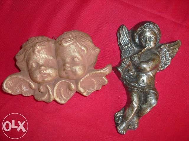 Conjunto / Lote: 2 figuras anjos