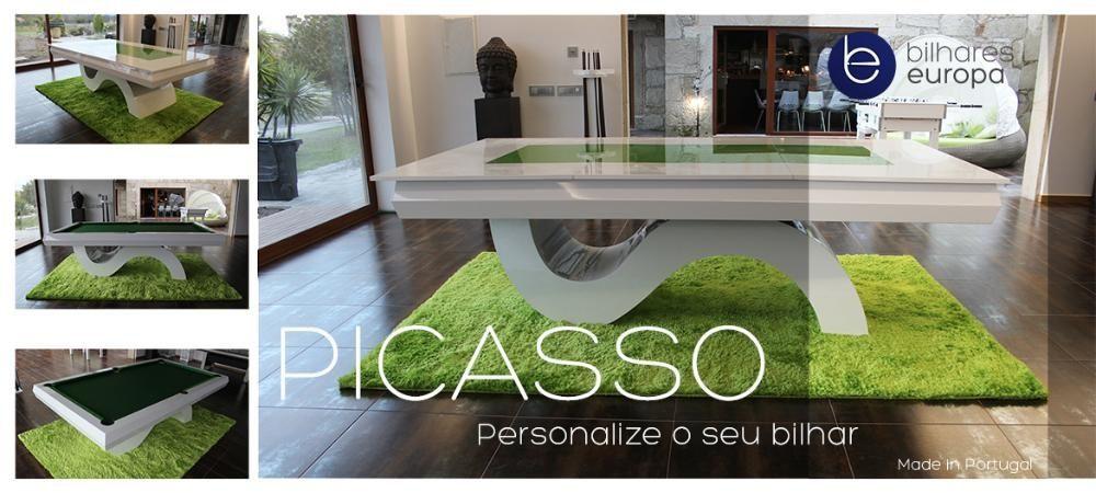 BilharesEuropa Fabricante Mod Picasso oferta tampo de jantar