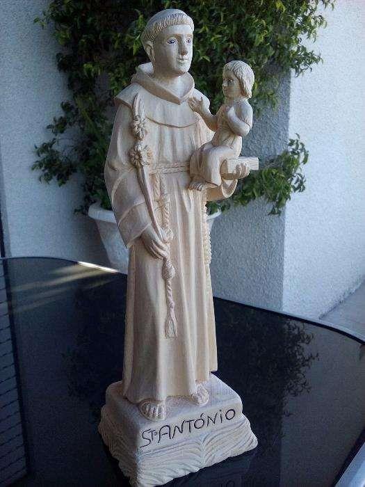 Escultura Arte Sacra Talha Madeira Santo António