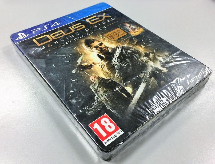 Deus Ex: Mankind Divided Day One Edition PS4 NOVO/SELADO - Selo IGAC