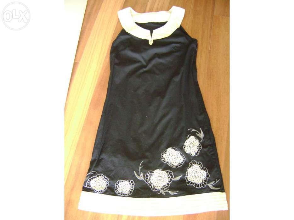 5c400182bd3a Vestido preto e bege tamanho 36 novo portes incluídos - Porto - Vestido  preto e bege