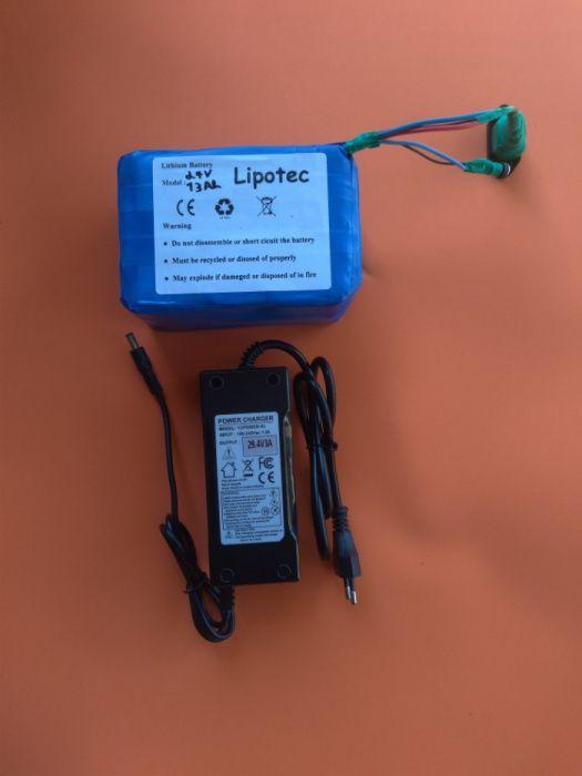 Bateria lítio 24V DC recarregável li-ion