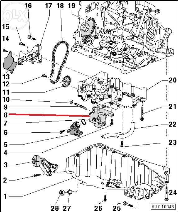 Kit de reparação de bomba de óleo AUDI A4 B7 - A6 VW PASSAT - 2.0 td Porto - imagem 12