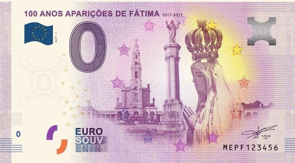 Nota 0€ (zero euros): Fátima (NumisVilaReal)