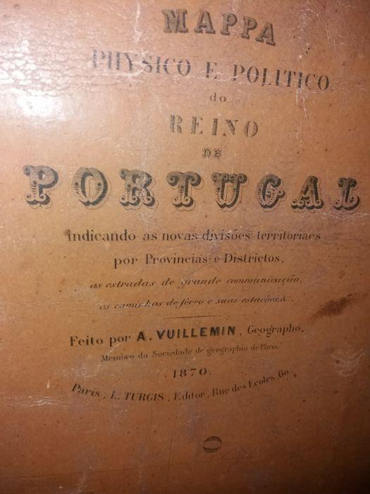 Mapa de Portugal de 1870