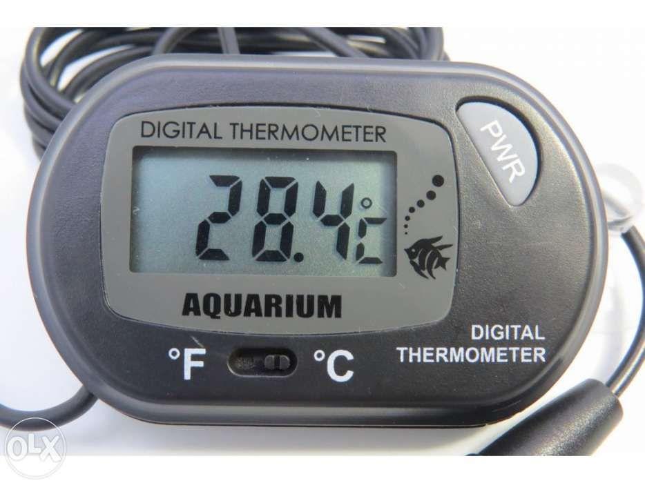 Termómetro para Aquário ou Terrário, LCD, com sonda e ventosa