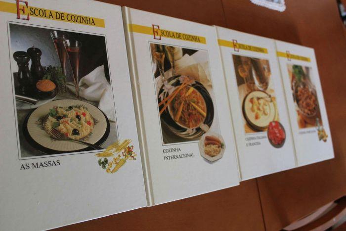 Coleção de livros Escola de Cozinha