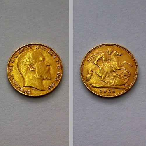 Meia Libra de Ouro 1903