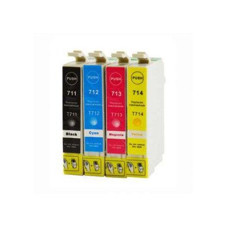 4 Tinteiros Compativeis Epson 711/2/3/4 XL Portes gratis