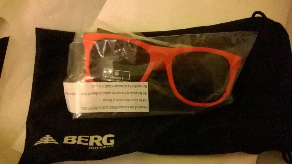 99038a67a óculos de sol berg criança-vermelhos - novos