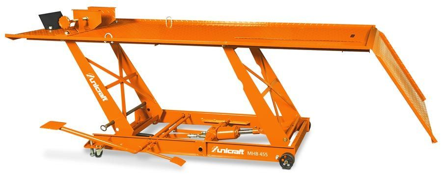 Plataforma elevatória / Elevador de motos marca alemã Capacid. 450 kg