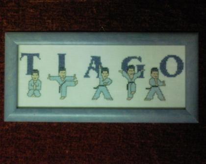 TIAGO quadro bordado