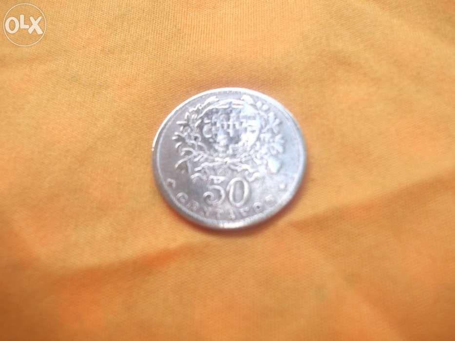 Moeda portuguesa 50 centavos de 1929