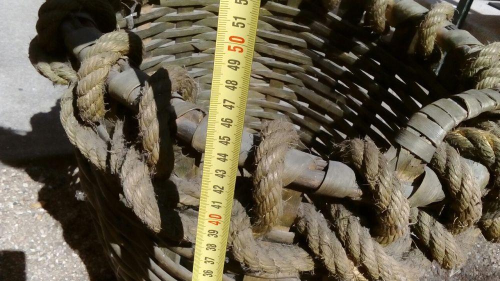 Grande raro cesto vindimas vintage em bom estado Matosinhos E Leça Da Palmeira - imagem 7