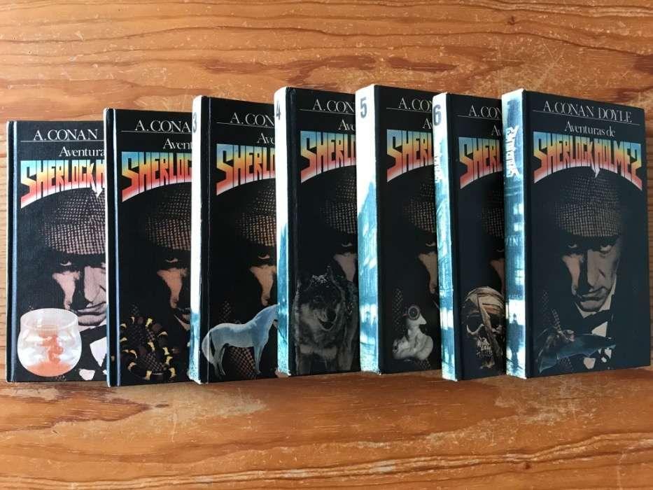 """Colecção completa """"As Aventuras de Sherlock Holmes"""""""