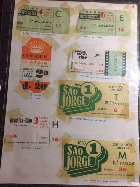 Coleção Bilhetes Cinema 1983 vários