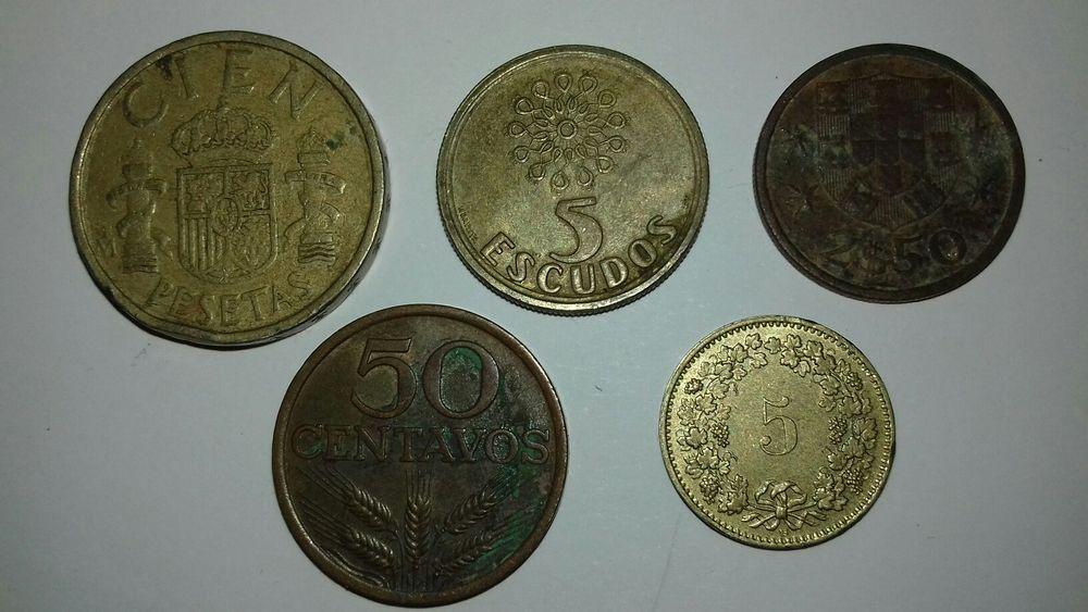 Conjunto moedas antigas