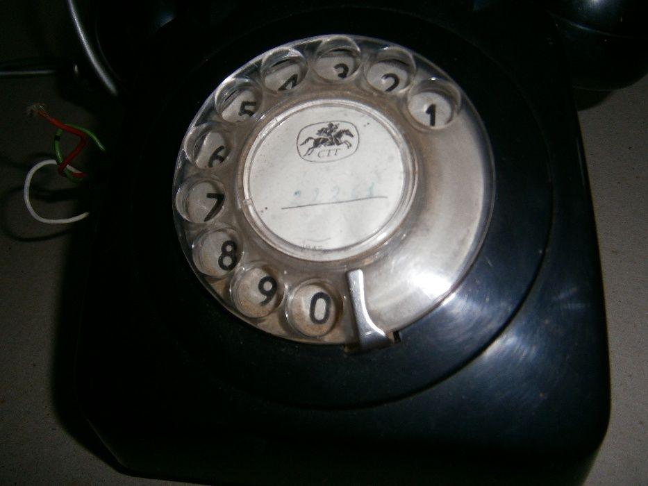 Telefone de disco antigo a funcionar - INCLUI PORTES DE ENVIO