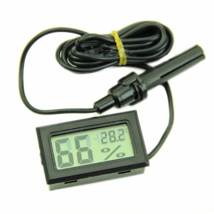 ツ Termómetro & Higrómetro digital LCD com sonda (portes grátis) #001.3