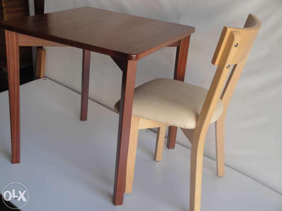 Mesa café restaurante madeira solid wood