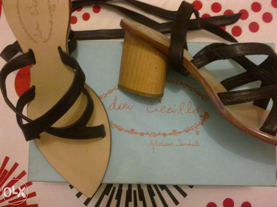 e717c13e5bb6 Sandálias pretas em Compra, venda e troca de anúncios - os melhores ...