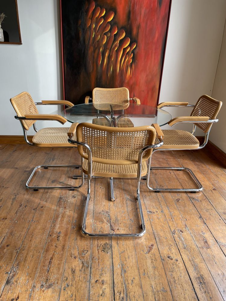 Cesca chair Gavina Marcel Breuer Bauhaus model B64 lata 60-te