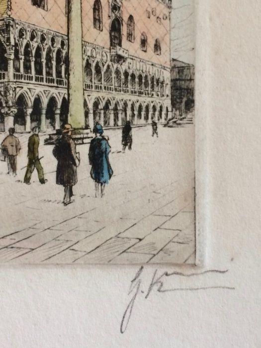 2 Gravuras de Giovanni Korompay – cerca de 1920 São Pedro de Castelões - imagem 4