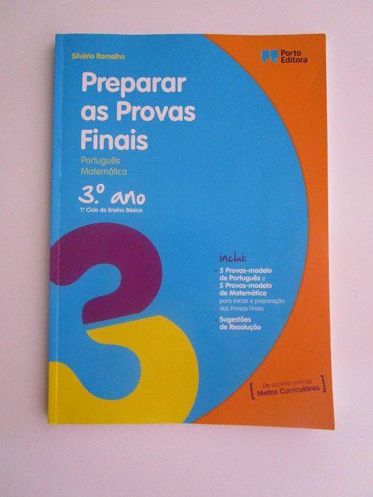 Livro Preparar as provas finais 3.º ano - Matemática/Português NOVO