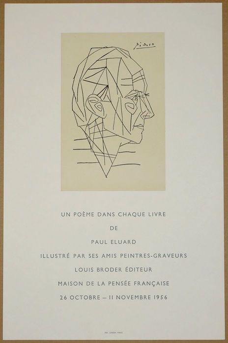 Litografia de Picasso 1956 - Não assinada