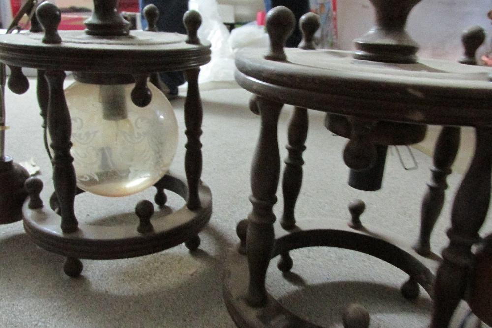 Candeeiro tecto em madeira/vidro Porto de Mós - imagem 3