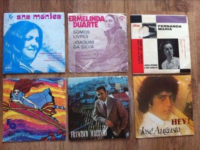 Discos de Vinil - SINGLES - Música Portuguesa - Anos 70 e 80