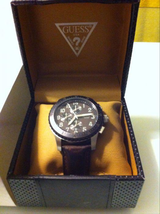 Relógio GUESS brac. castanha