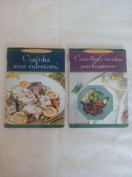 2 LIVROS: Conselhos e Receitas para Emagrecer. Cozinha sem Colesterol.