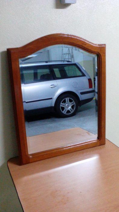 Espelho madeira castanho maciça