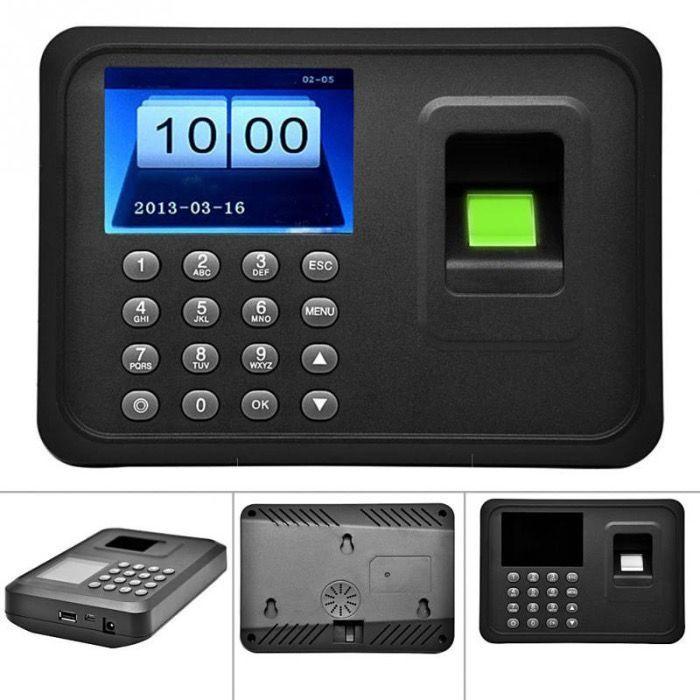 Registo biométrico de impressão digital ou password