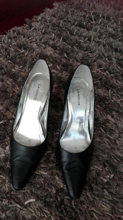 Sapato Lanidor preto pele, n. 40