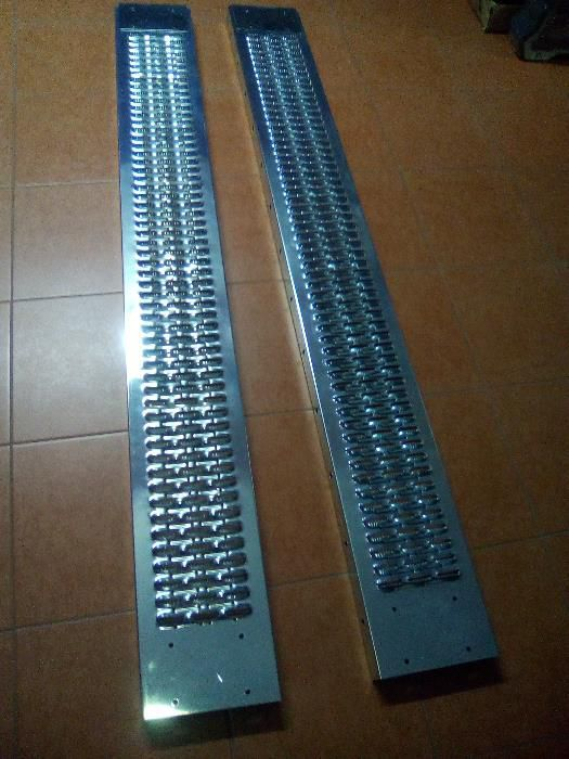 Rampas Aço com 1,80 mts Capacidade carga: 250 Kg (Pack de 2 unidades)