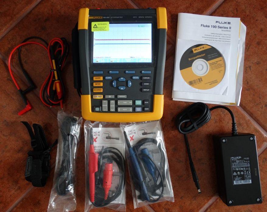 Fluke 190-062 Osciloscópio 2 canais 60MHz 625MS/s
