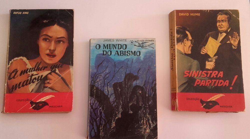 Livros das Eras de 1953,1954,1966,1975. Romance, Aventura, Politica.