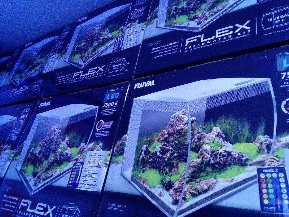 Aquario novo Fluval Flex Branco 57L