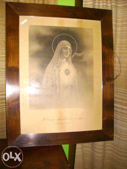 Quadro antigo de Nossa Senhora de fátima