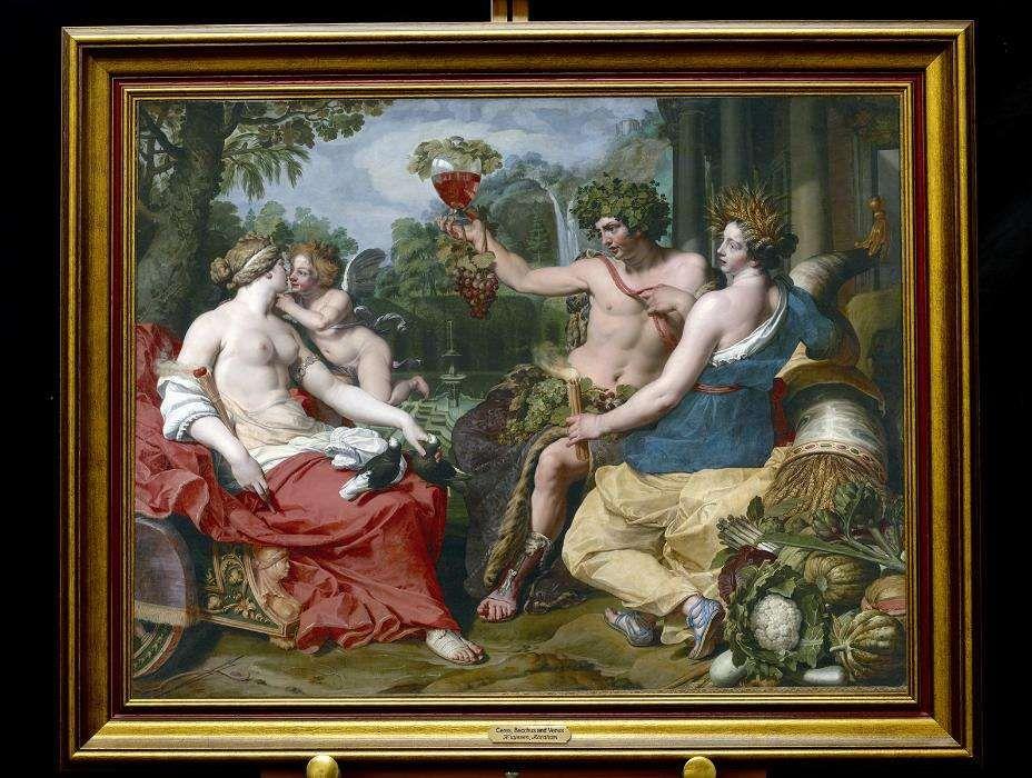 Nuyssen, Abraham Ceres Bacchus Venus quadro tela placa ID