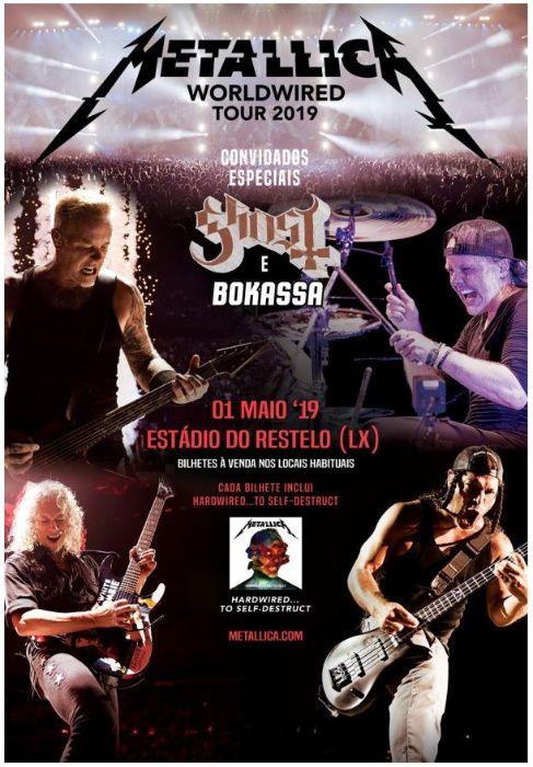Bilhetes Metallica 2019 Restelo