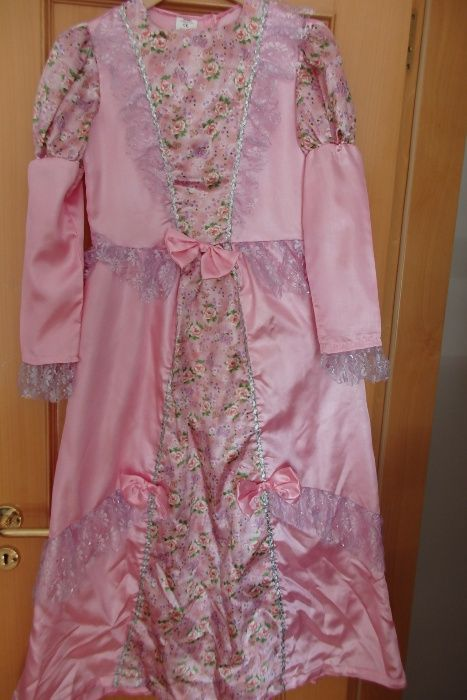 Vestido Carnaval princesa rosa lilás 10 anos