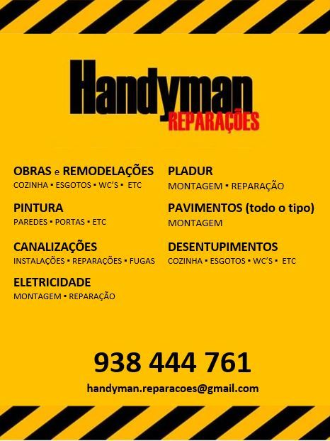 Handyman - Reparações * Remodelações