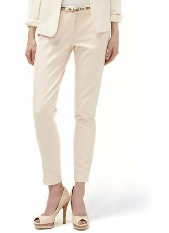 Eleganckie spodnie ecru reserved 38 M Konin • OLX.pl