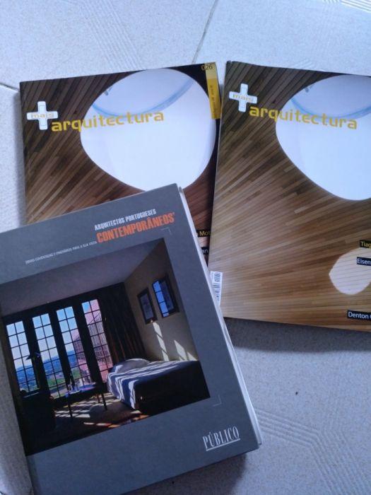 Livro Arquitectos Portugueses Contemporâneos e 2 revistas Arquitectura